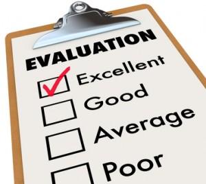 Evaluation Report Card Clipboard Assessment Grades